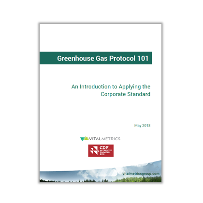 WHITE PAPER: GREENHOUSE GAS PROTOCOL 101  An Introduction to APplying the Corporate Standard