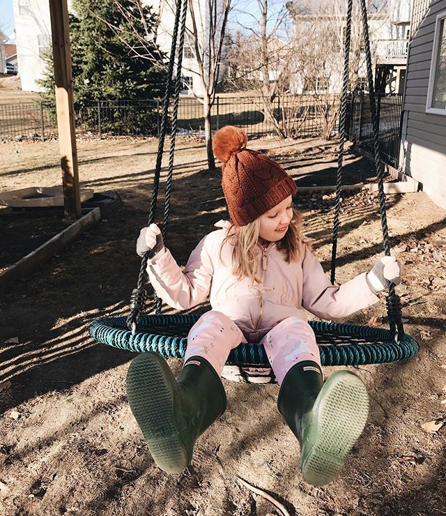 ✨ Just the absolute best weekend at home with this sweet girl. We stayed in pajamas and worked on house projects. Made pizza and cookies. played outside as much as we could. My sweet Ella has been super talkative, singing her little songs and phrases and playing with us nonstop — chase me, tickle me, draw this, push my swing. She was all smiles and snuggles and laughter all weekend. Just the best ever. ✨