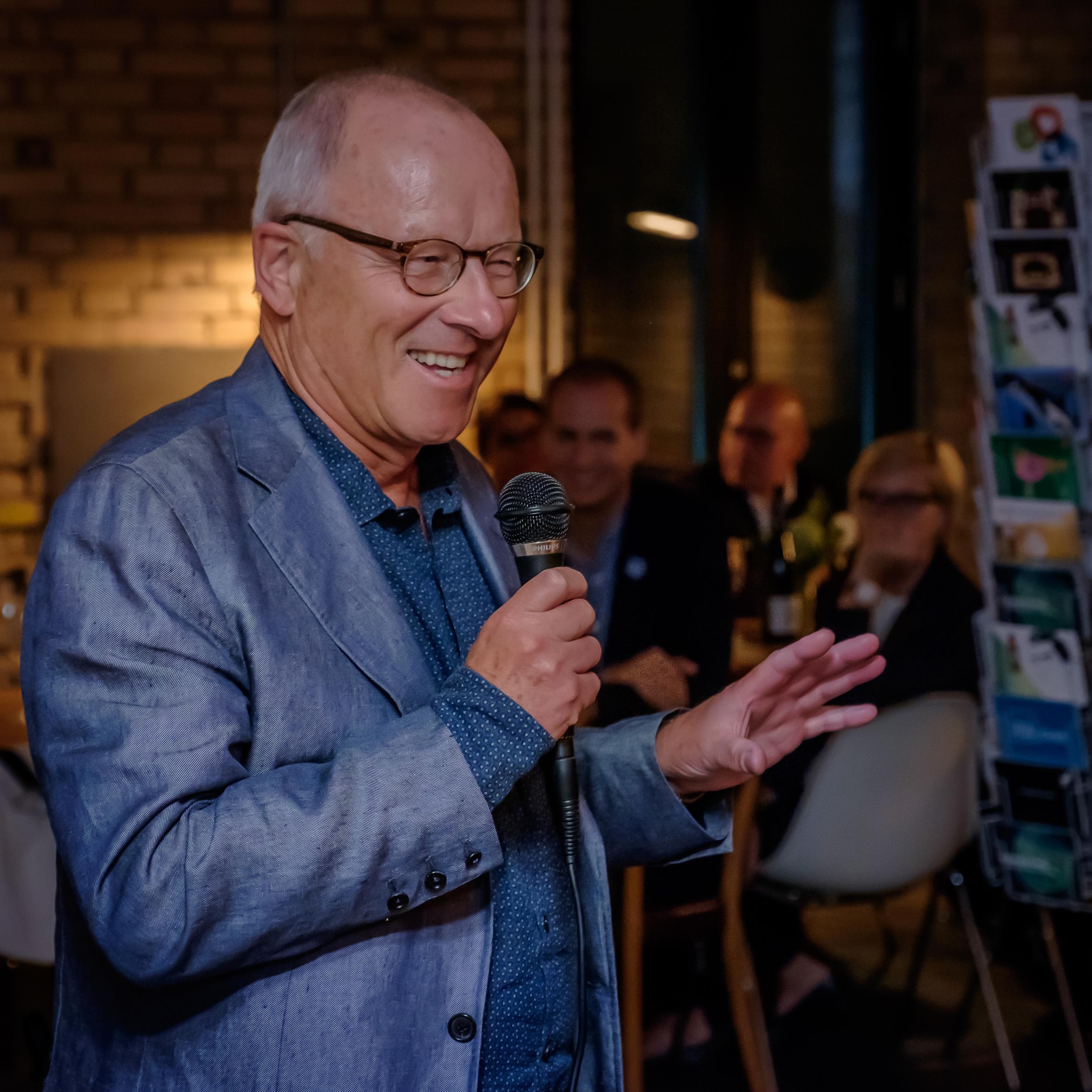Stefan Schmidheiny am Opening Dinner des Impact Hub Colab, Zürich