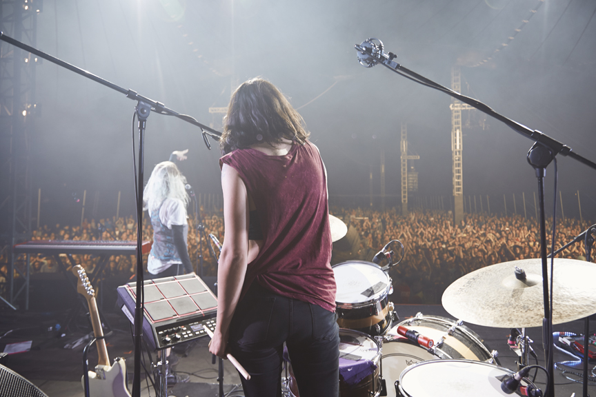 Gydnia, Poland / July 05, 2014 - last show of a tour.