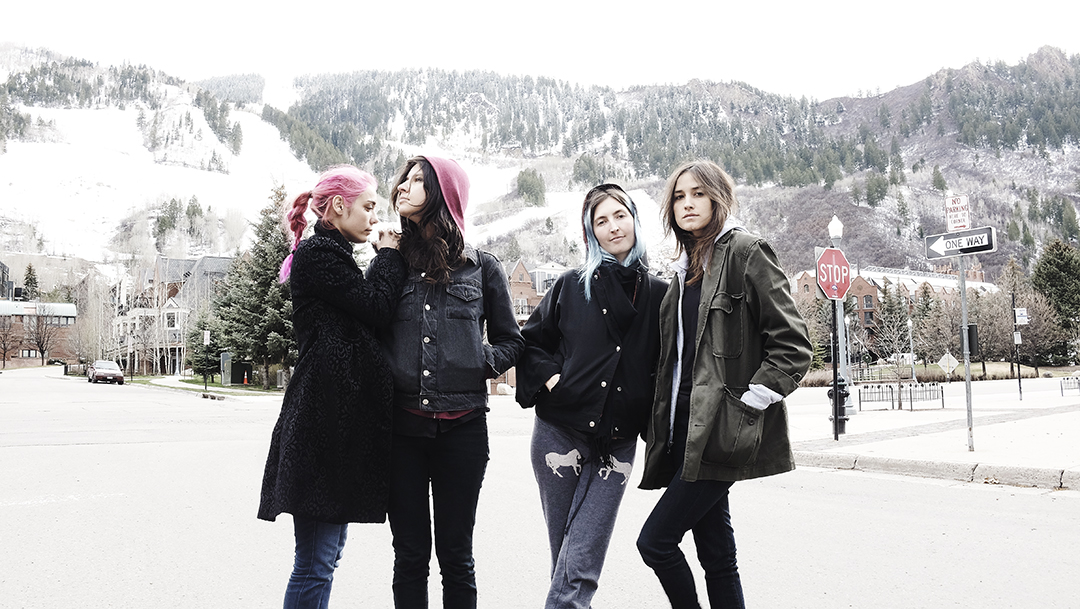 Warpaint girls in Aspen. I could see hiding away there for a few months. Beautiful. A wonderful day.