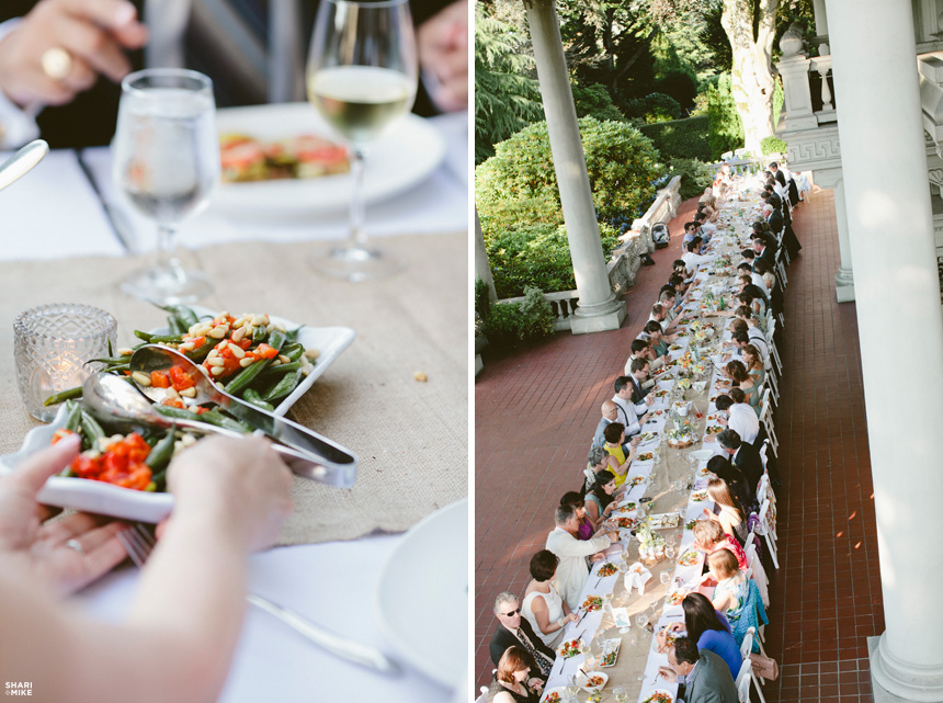 Vancouver Family Style Wedding Reception