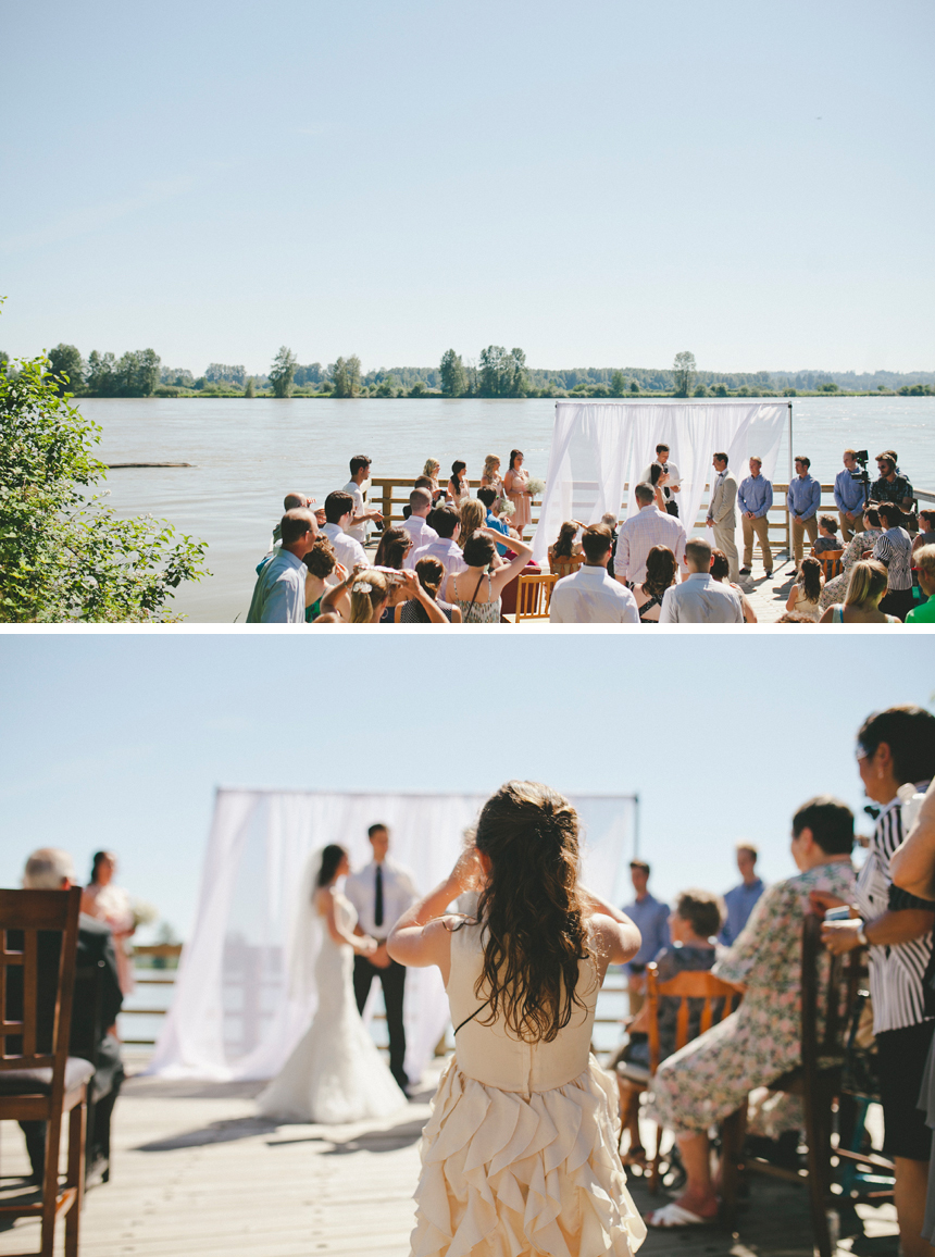 British Columbia Dock Wedding