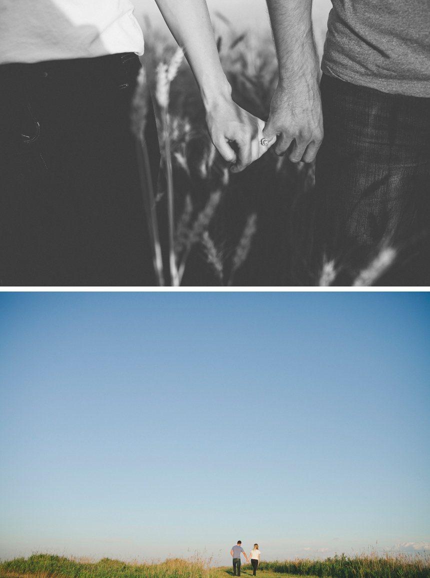 Alberta Prairie Engagement Photography