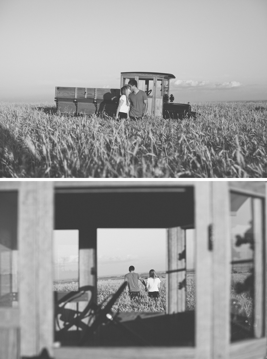 Alberta Farm Engagement Photography