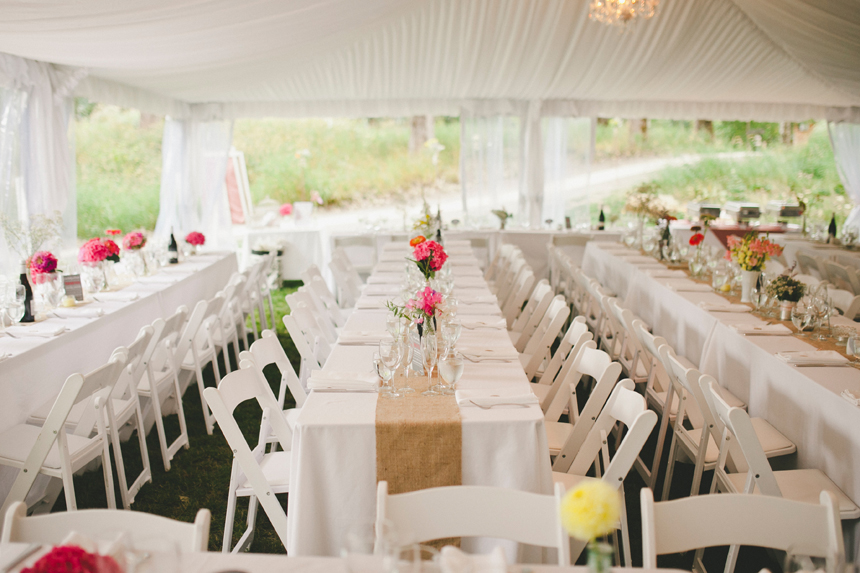 Pemberton Outdoor Wedding Reception