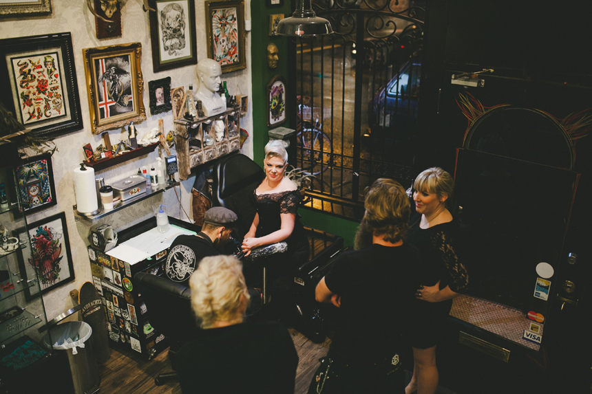 Vancouver Tattoo Shop Wedding Ceremony