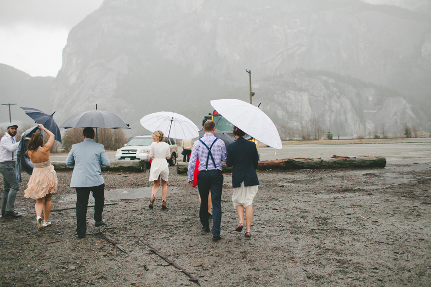 Wedding Party Rain