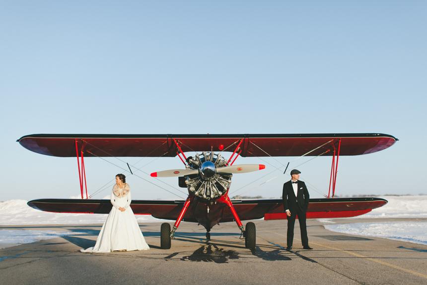 Alberta Vintage Airplane Wedding
