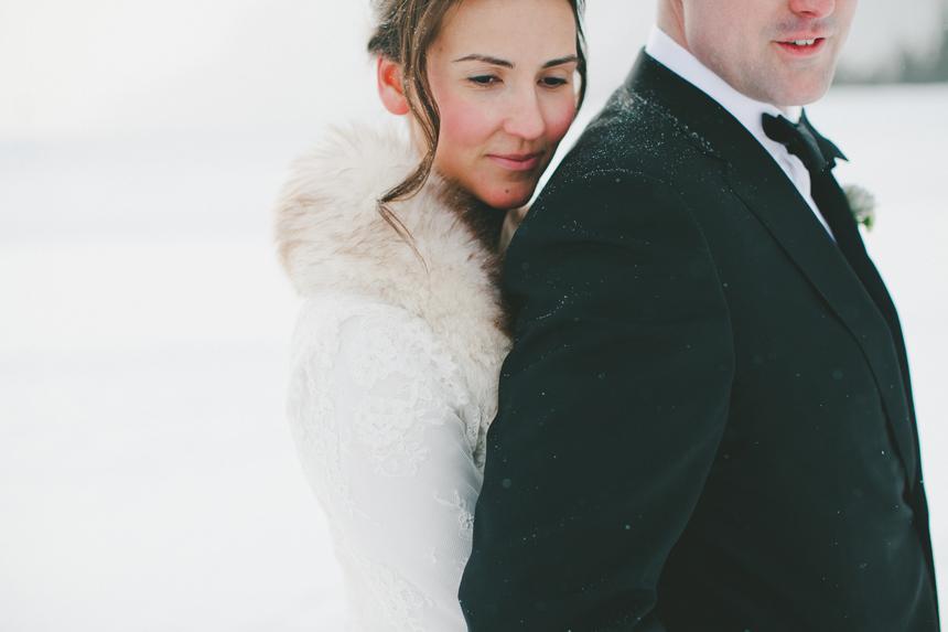 Alberta Rockies Winter Wedding
