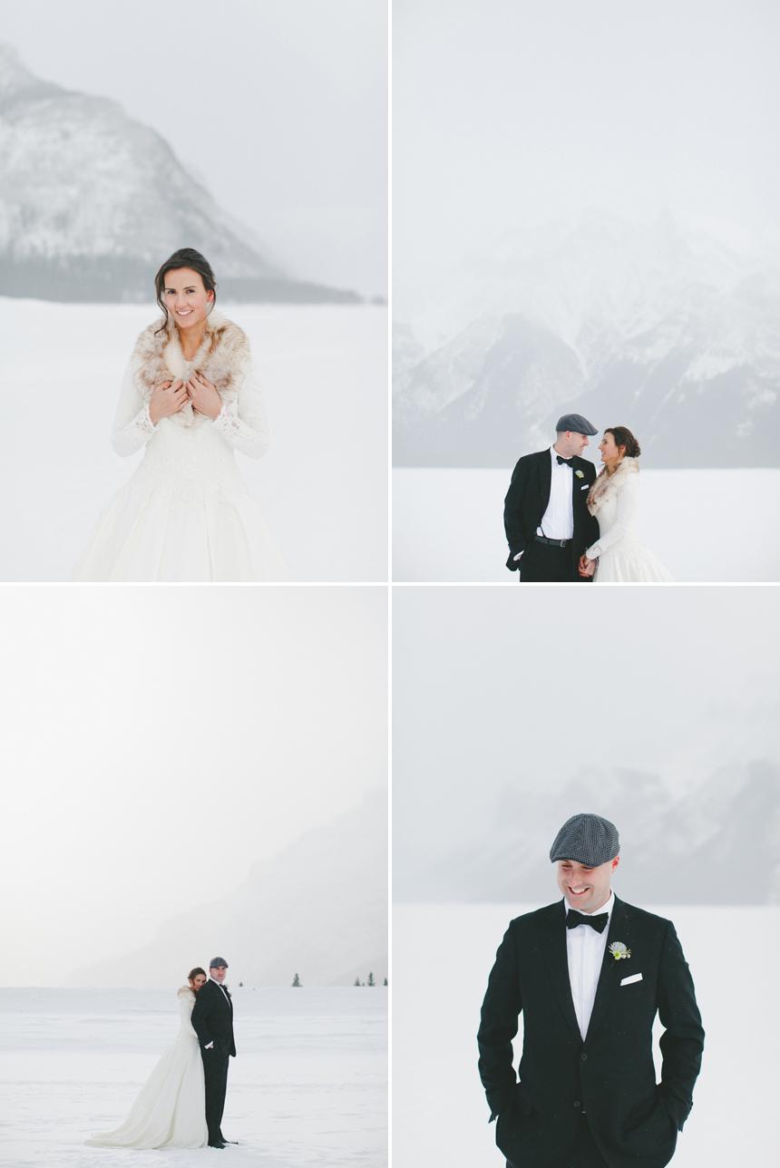 Alberta Winter Destination Wedding Photos