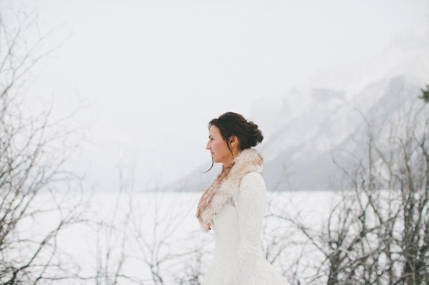 Alberta Winter Wedding Portraits