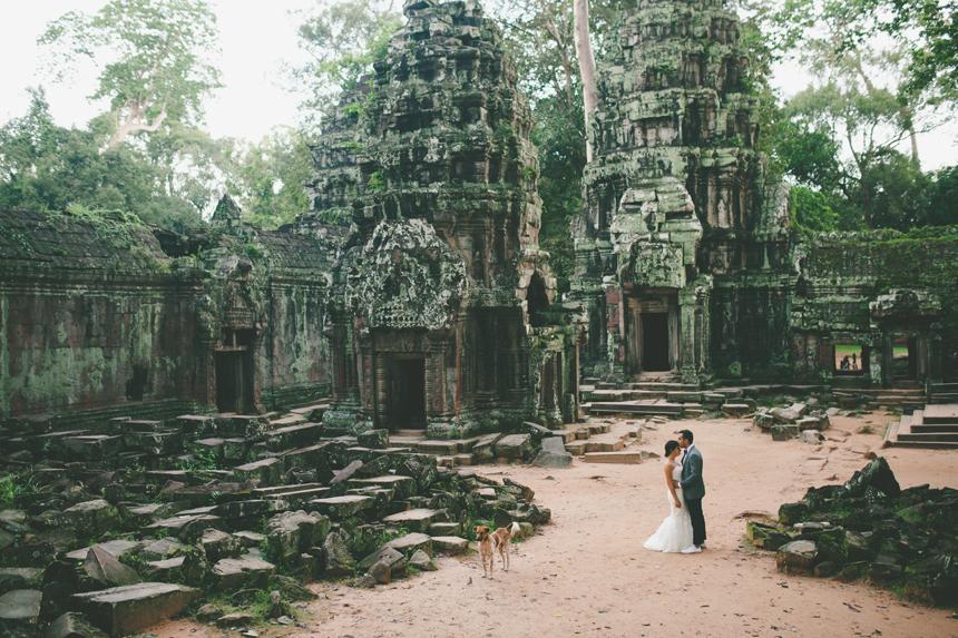 Cambodia Jungle Temple Wedding Photos