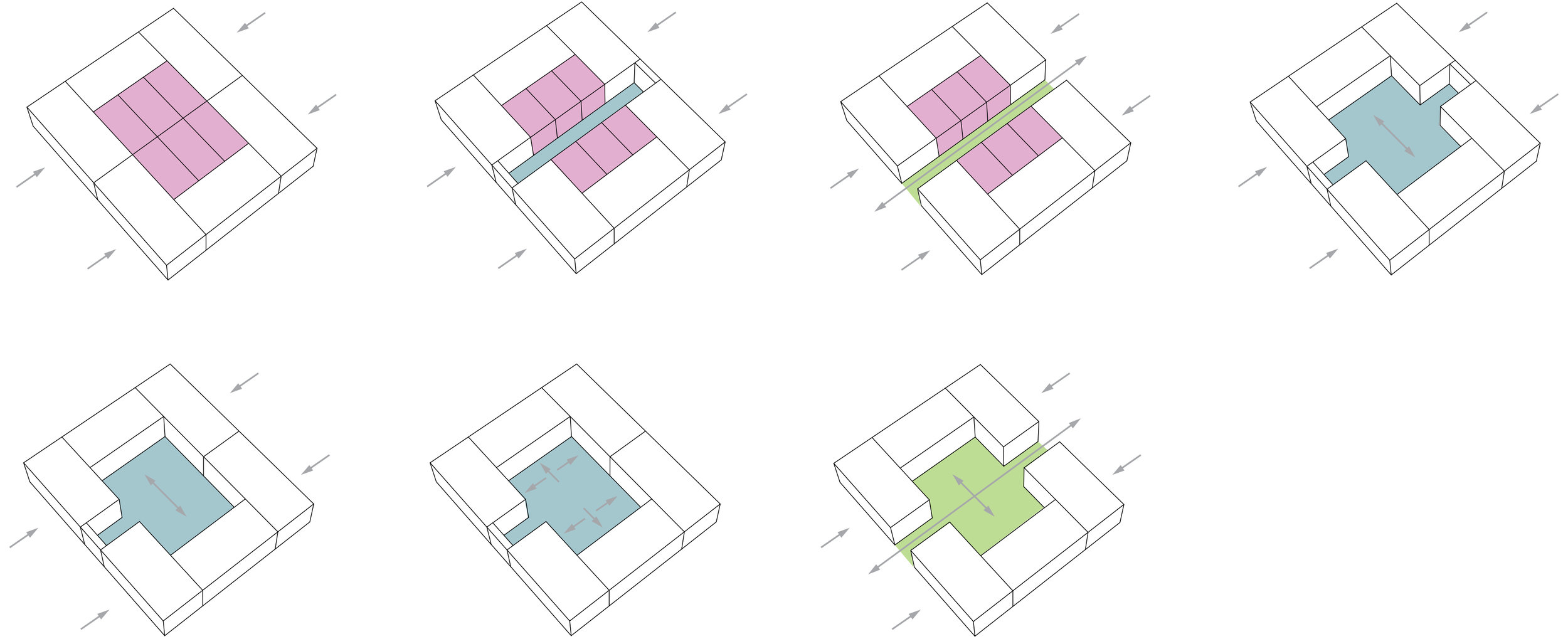 Public/Private Courtyard Study