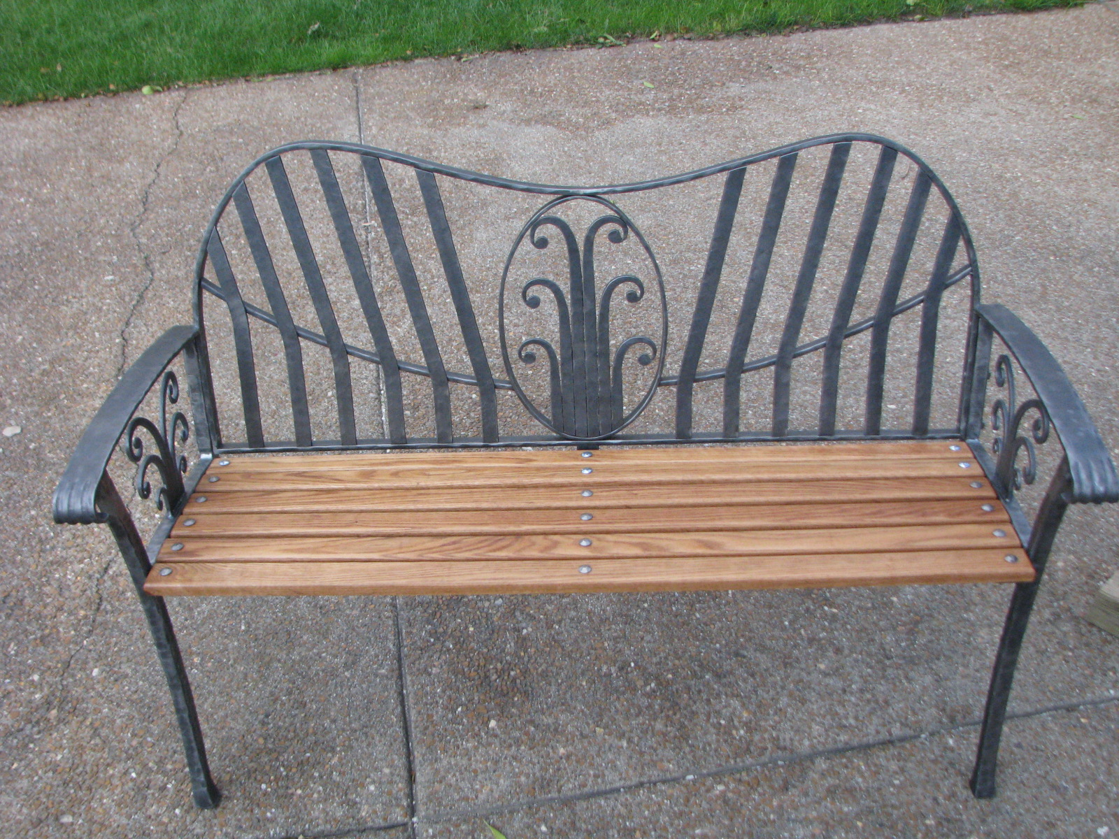 McGire's bench at his house.JPG