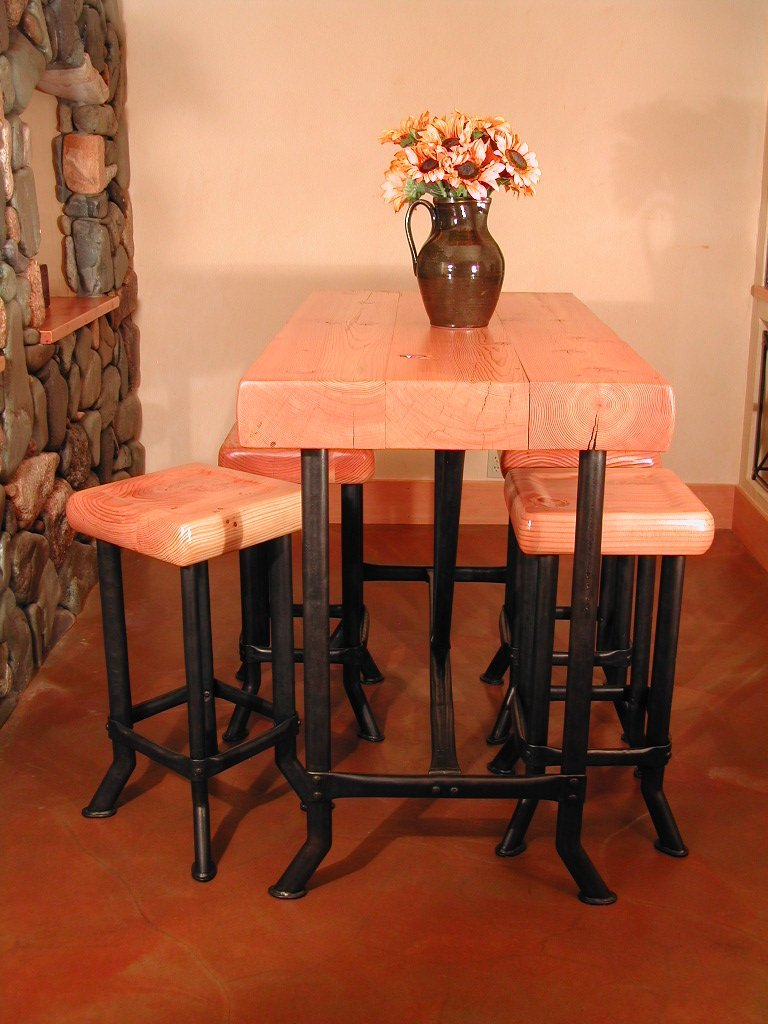 Wine Cellar Table and Stools.jpg