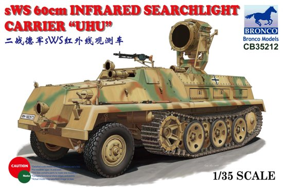 """BOM35212, sWS 60cm Infrared Searchlight Carrier """"UHU"""""""