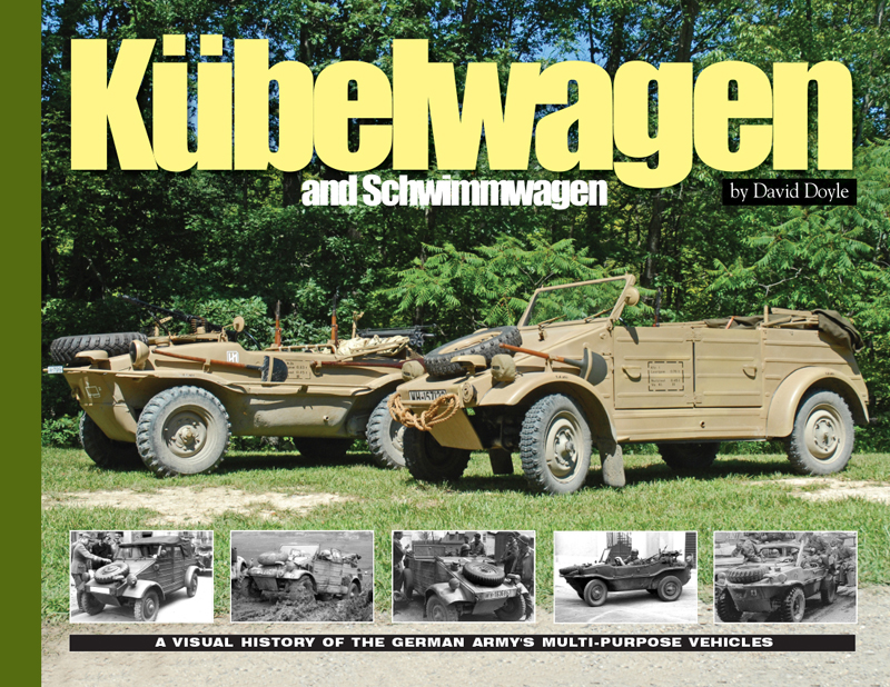 """The vehicle that was to become the Type 82 Kübelwagen had its roots in the development of the Volkswagen """"People's Car."""" With war clouds gathering over Europe, the efforts of the Volkswagen facility were turned to the production of military vehicles. In January 1938 work began in earnest on the vehicle that would come to be popularly known as the Kübelwagen. The term Kübelwagen means """"bucket car"""" and was actually applied to a variety of vehicles from a number of makers, but has come to be synonymous with the Volkswagen Type 82. Even under the skilled tutelage of Dr. Ferdinand Porsche, two years of work and testing were required before the Kübelwagen took its classic form. It was soon to become as ubiquitous as the U.S. Army's Jeep and was also designed a produced as an amphibious car known as the Schwimmwagen.  As always, this Visual History title mixes rare and interesting archival imagery with photos of restored vehicles. Produced with the full and complete cooperation of the Kübel Korps, one of the world's largest Kübelwagen-Schwimmwagen restoration groups, this title presents only the very finest restored examples. Early examples of the Kübelwagen are featured, as is a very rare 1945 model. No detail is left unrevealed, with interiors, multiple engine views and undercarriages. Additionally, the Schwimmwagen is covered in equally great detail."""