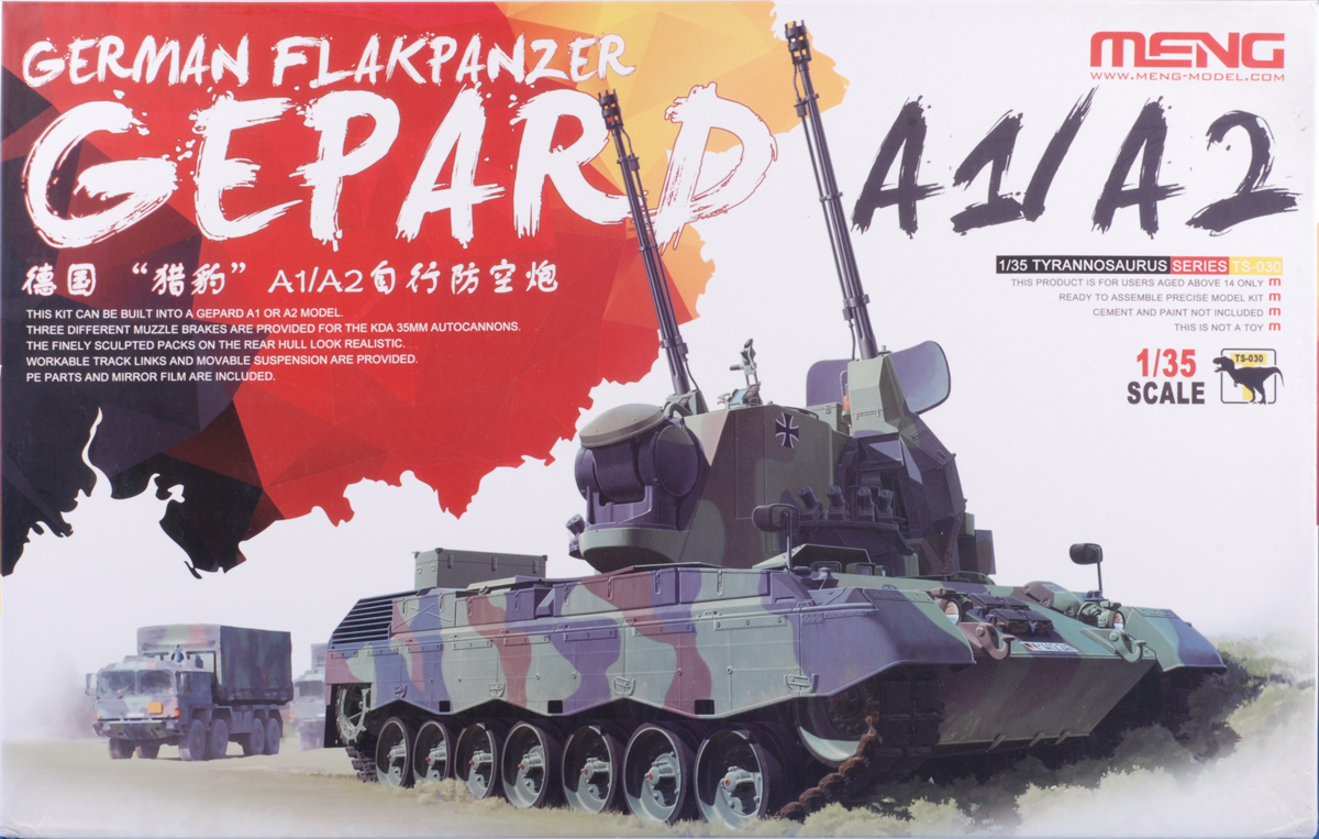 Bundeswehr and Cold War fans will delight in this addition to Meng's excellent lineup of Leopard kits. As with the T-72, the tracks are quite involved. The hull and turret details are well-rendered and this is a great successor to the now ancient Tamiya kit.