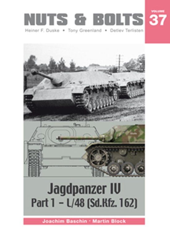 "We are pleased to announce the publication of our latest Volume 37 on the early versions of the Jagdpanzer IV, also called ""Guderian duck"". This ""tank"" first designed 1942 on an order of the Heereswaffenamt to VOMAG and first introduced in 1944 was basically a new successor to the Sturmgeschütz. There was a considerable effort by the General der Artillerie for the retention of the designation ""Sturmgeschütz"". Guderian battled and won his case for the issuing of the tanks to the Panzerjäger units of the Panzer-Divisions. Despite the inexperienced Panzerjäger units the Jagdpanzer IV became a very worthy adversary against the Allies Armoured opposition.  This volume includes the early versions of Panzerjäger IV chassis No. V2 to the leichte Panzerjäger IV with the 7.5 cm Pak 39 L/48. As we formulated the production of this volume it became apparent that the historical information we obtained could only be done justice if we produced two volumes on one of the most important German tanks of the Second World War. Together with Volume 38, which is devoted to the VOMAG and ALKETT versions with the 7.5 cm Pak 42 L/70 and the Einheitsfahr- gestell, all versions of this formidable vehicle will be included to the standard of information that our readers have become used to."