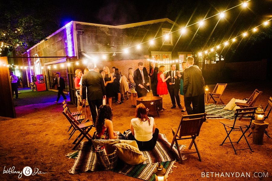 A fire pit area is a great addition to any wedding