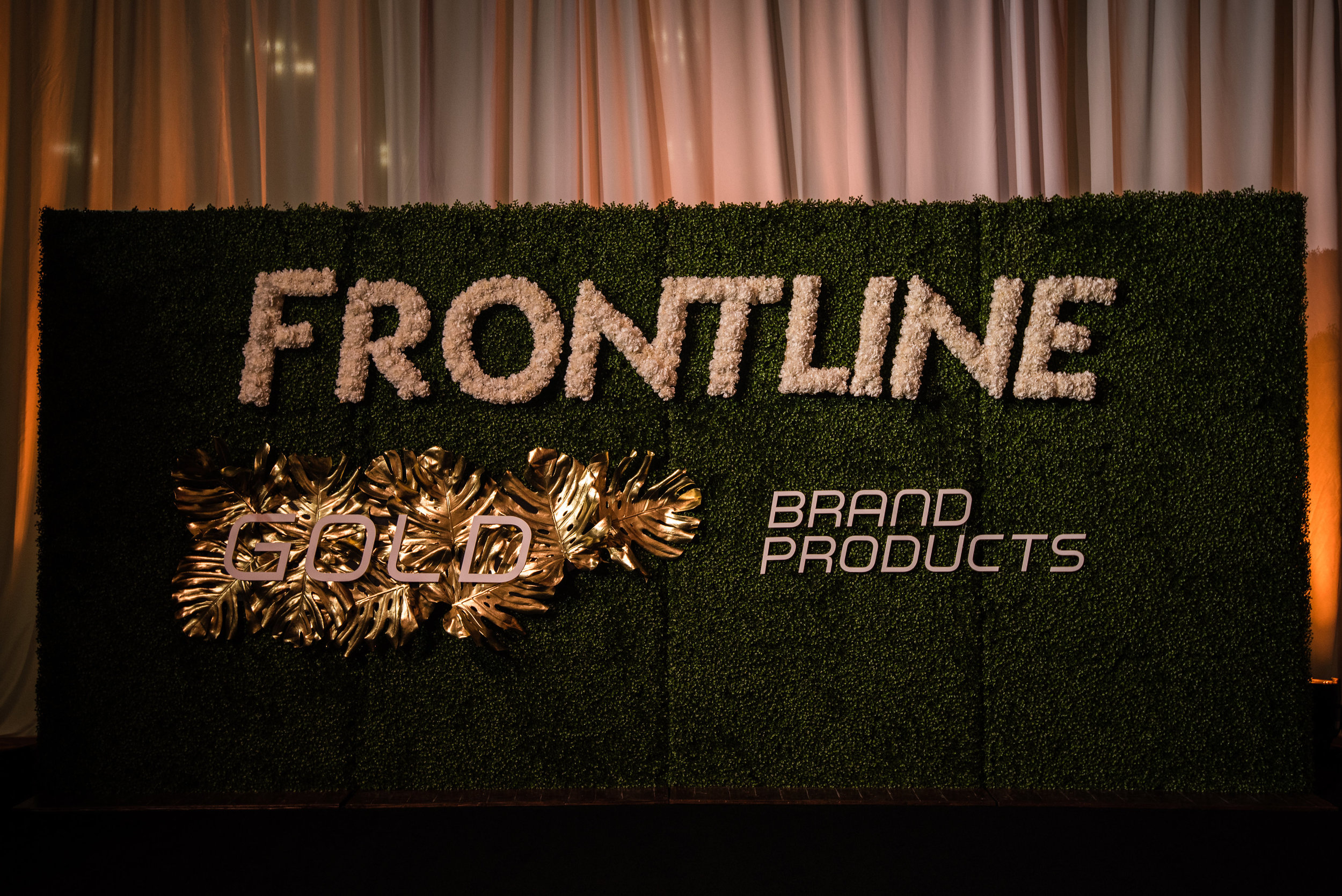 Our gorgeous 16' floral logo wall.