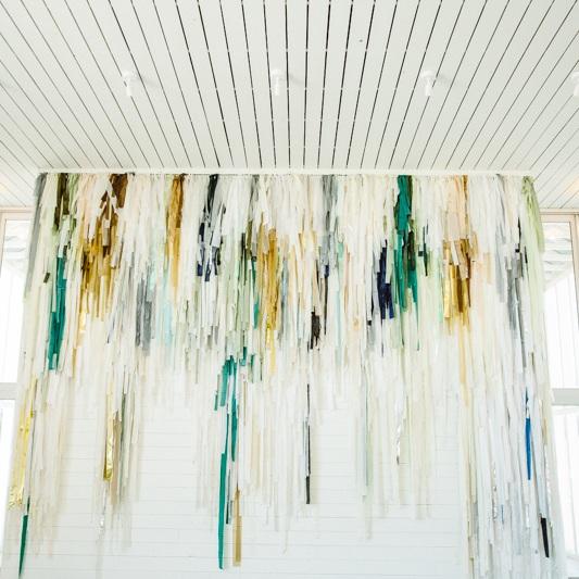 17' tall fringe detail wall installation