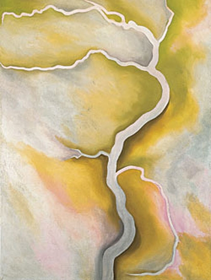 """Georgia O'Keeffe, """"From the River - Pale"""", 1959"""