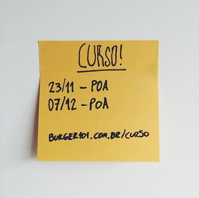 Olha só quem voltou. :) ⠀⠀⠀⠀⠀⠀⠀⠀⠀ Inscrições: burger101.com.br/curso