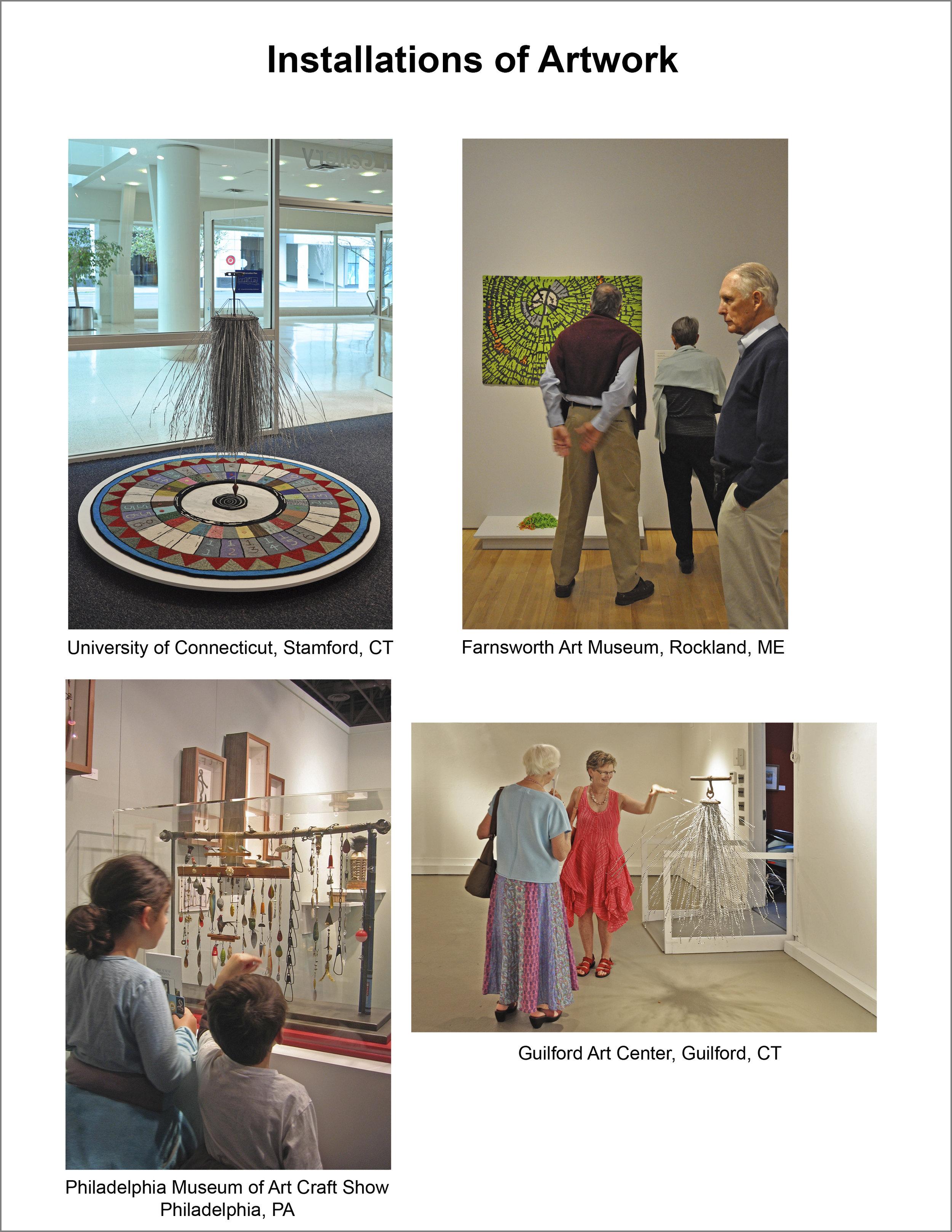 Installation of Artwork in Galleries