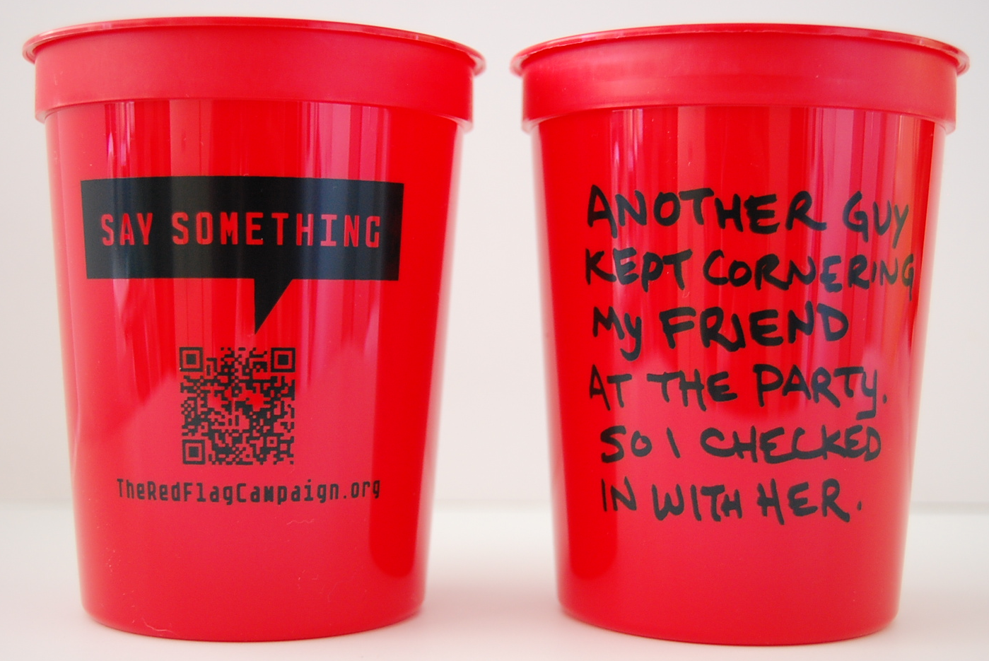 Red Flag Campaign Stadium cup