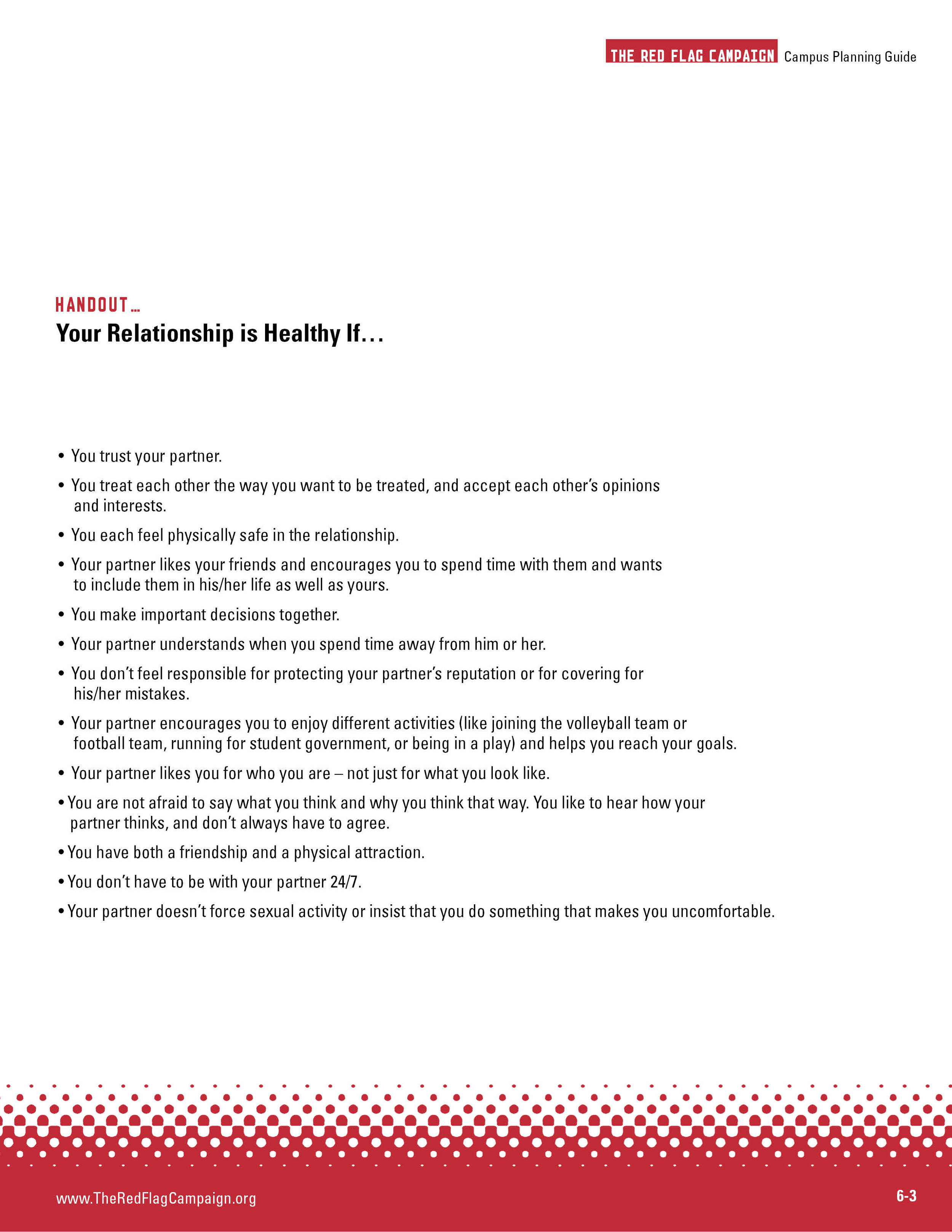 Your Relationship is Healthy If...