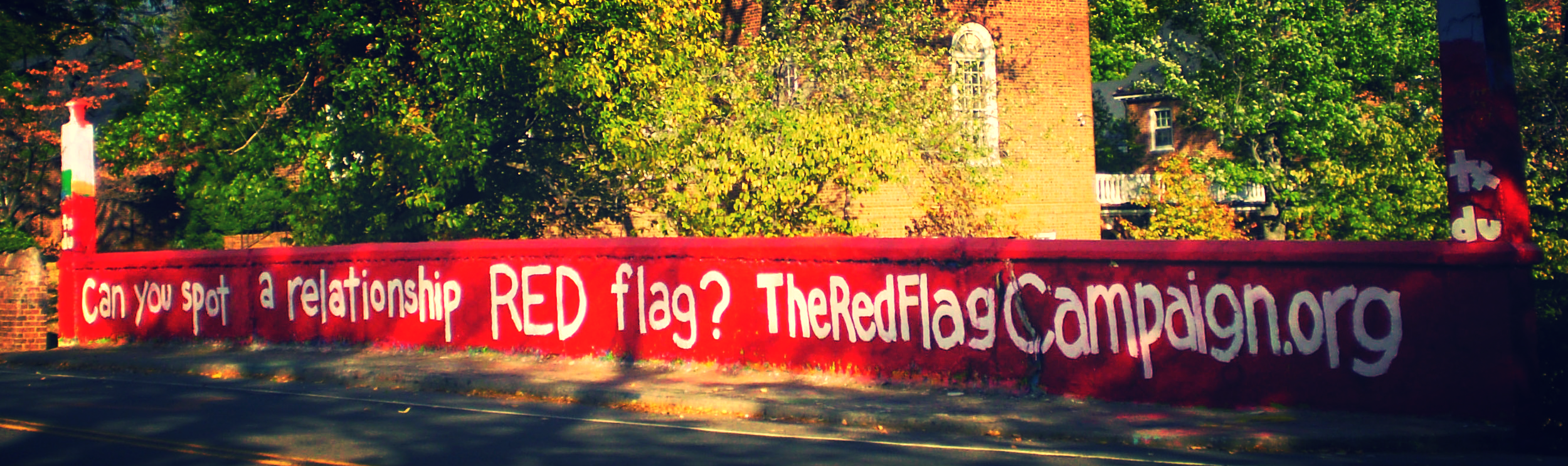Red Flag Campaign mural on college campus