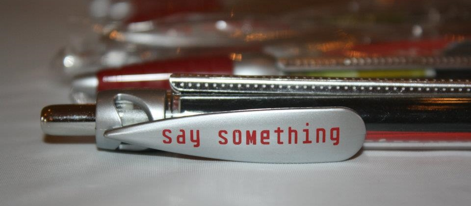 Red Flag Campaign: Say Something-pen
