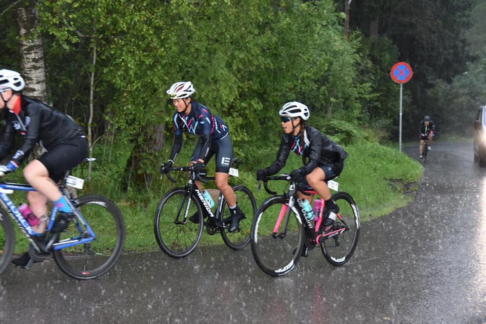 Slik så det ut når det regnet - det er ikke ofte jeg har fått vannplaning på sykkel, men det er mulig og ikke spesielt hyggelig ;-)
