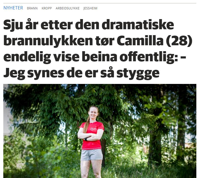 En artikkel i Romerkesblad om vår fantastiske trener Camilla og hennes vei tilbake etter den katastrofale brannulykken for 7 år siden.