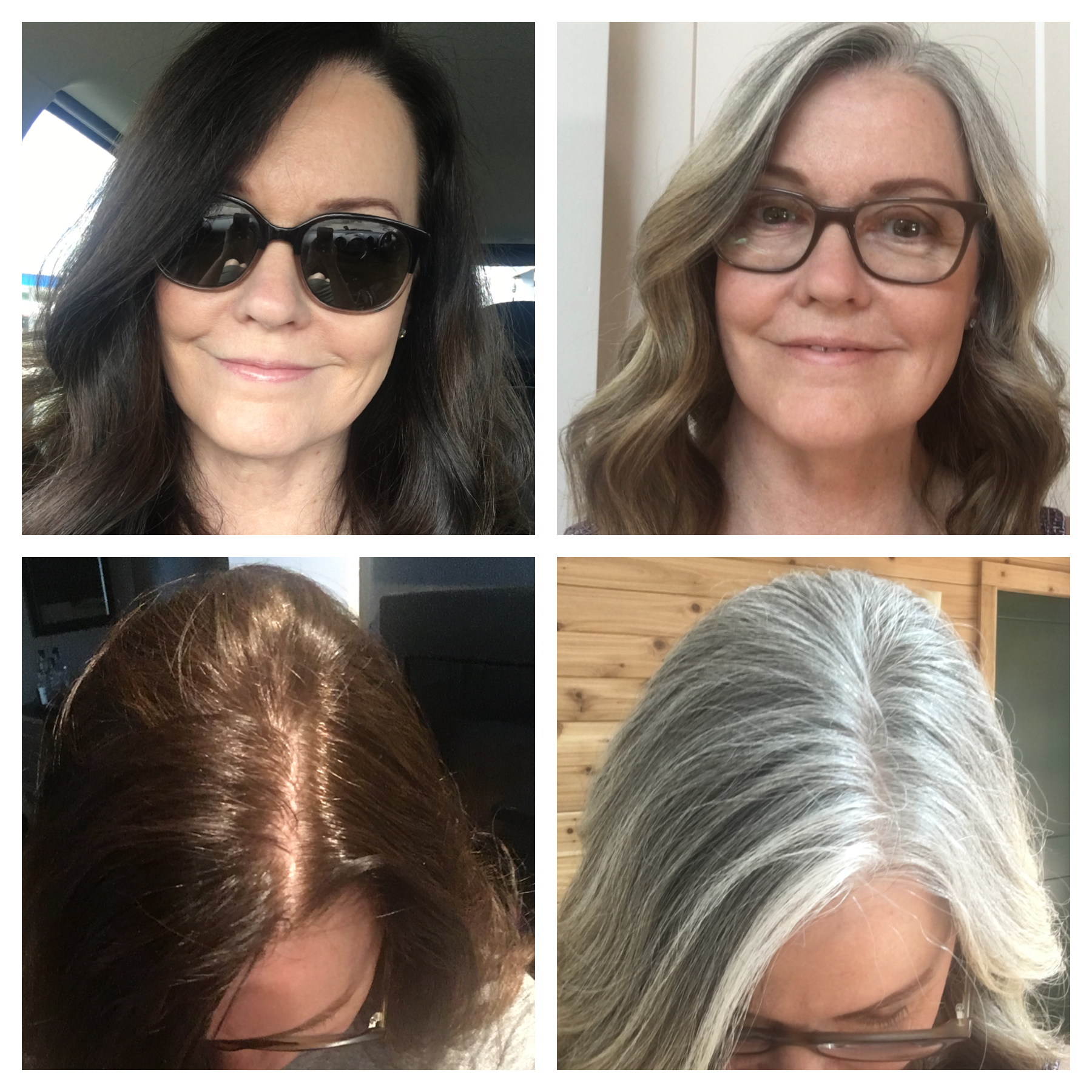 How I transformed my dark brunette hair to my natural gray ...