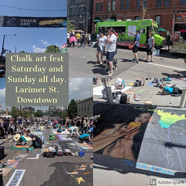 Chalk Art Fest. Saturday and Sunday