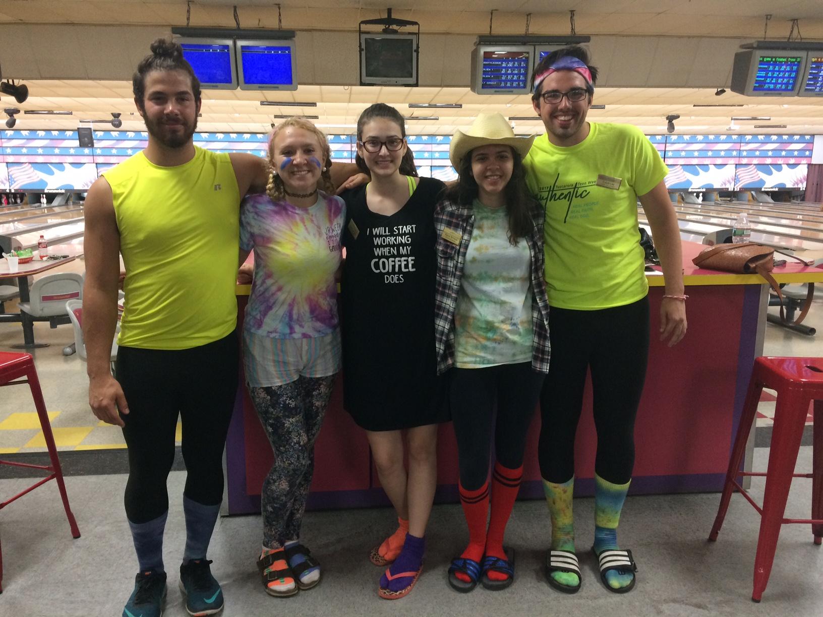 Josiah Houseal, Kylie McCann, Katriel Schwab, Kiana Schwab, Caleb Lee 2017 Summer Staff Counselors