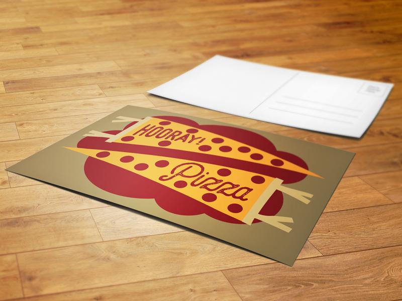 Hooray Pizza! Postcard