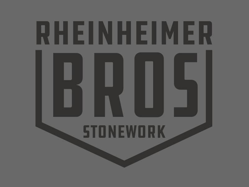 Rheinheimer Brothers Stonework Branding