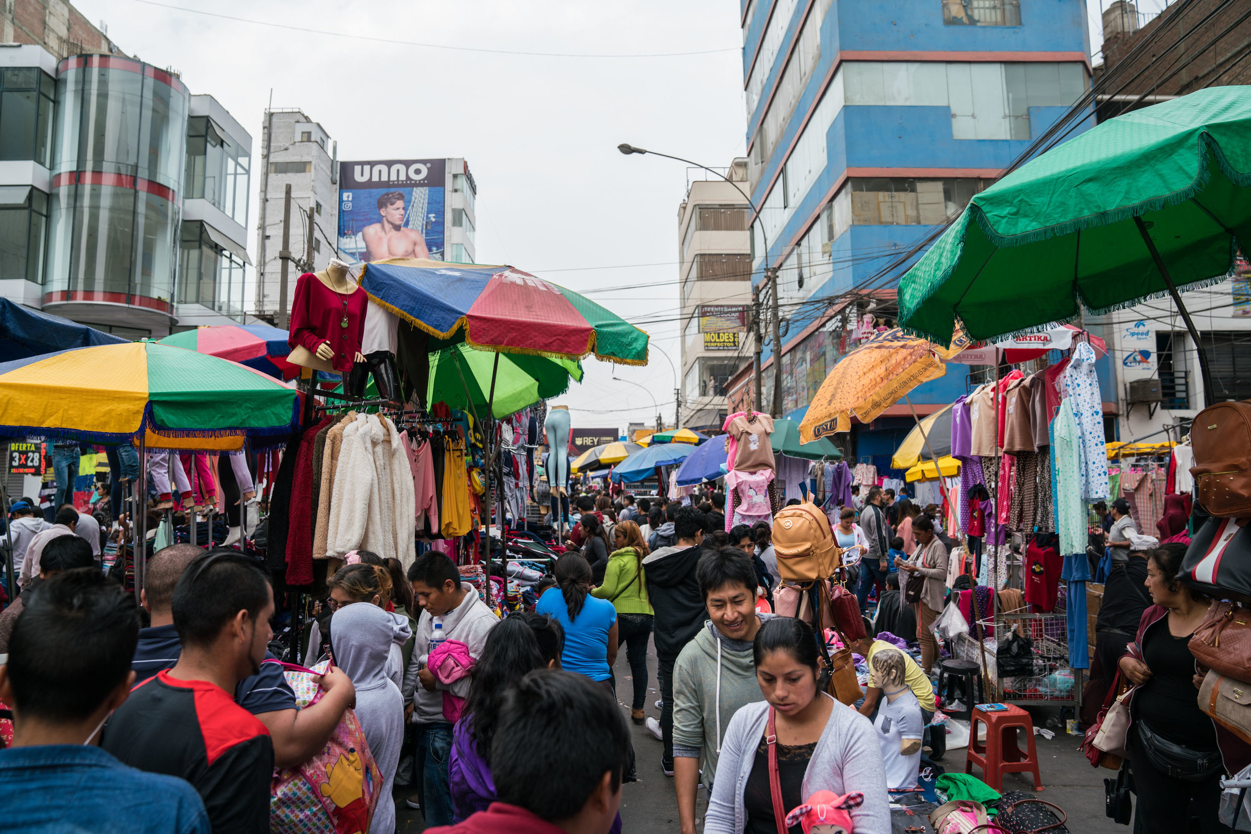 Packed streets of Gamarra Market
