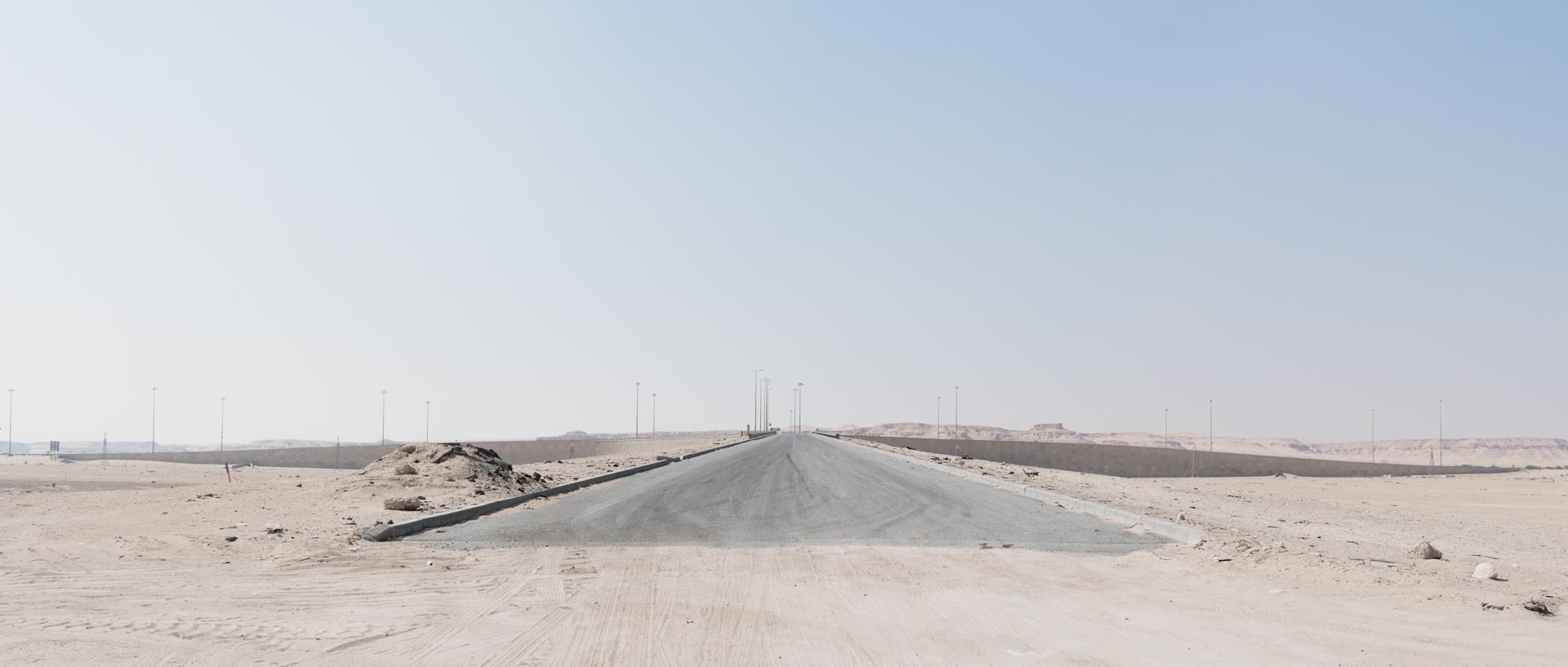 Desert meets civilisation.