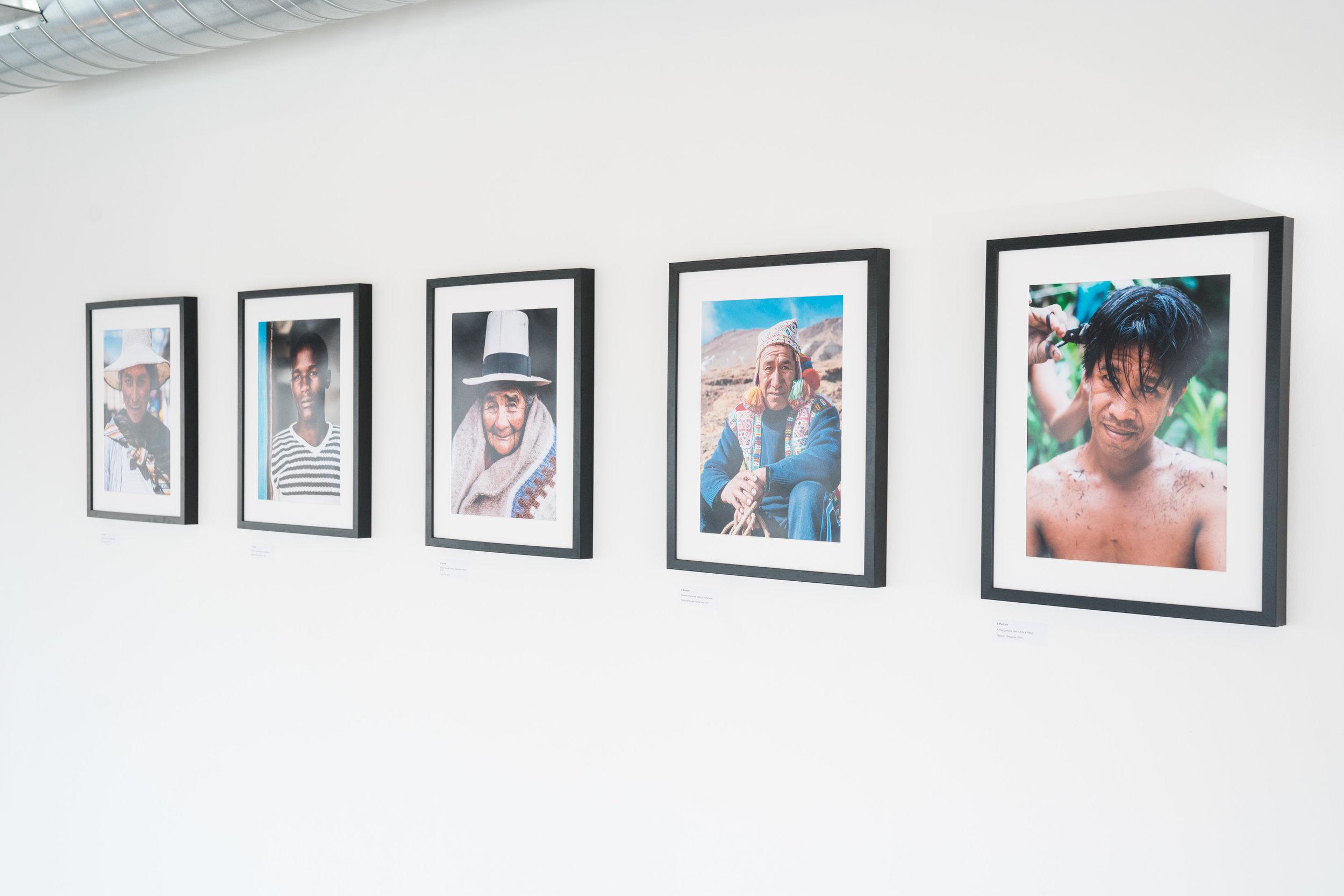 A selection of Portraits, 30 x 40cm.