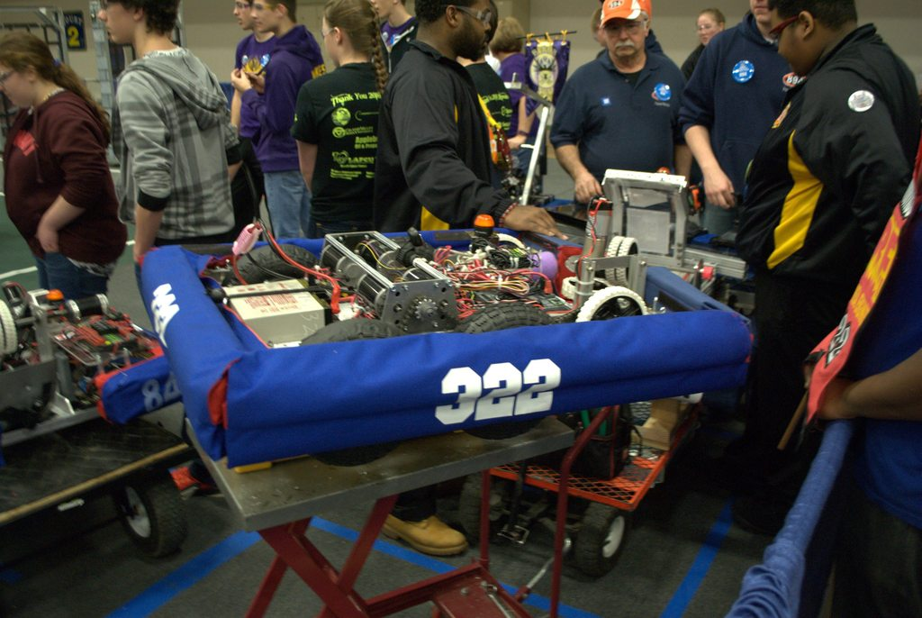 Our robot queued for a match.