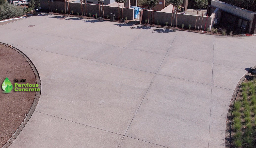 Polished Pervious Concrete Driveway- Los Altos Hills, CA