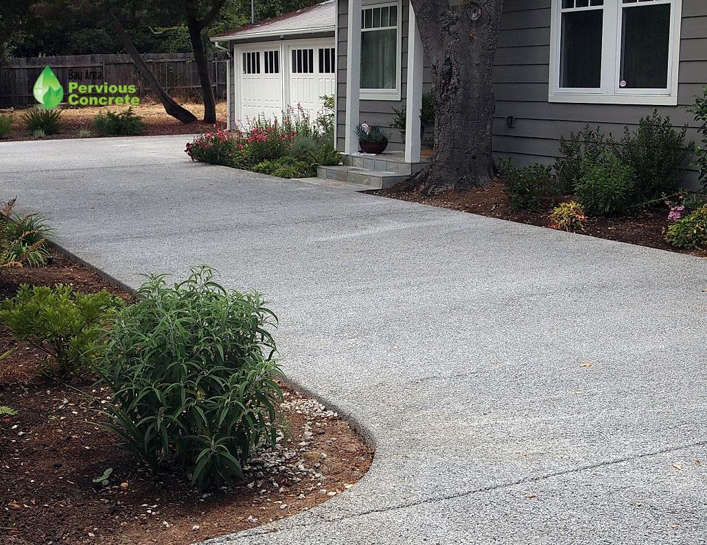 Pervious Concrete Driveway-Woodside, CA