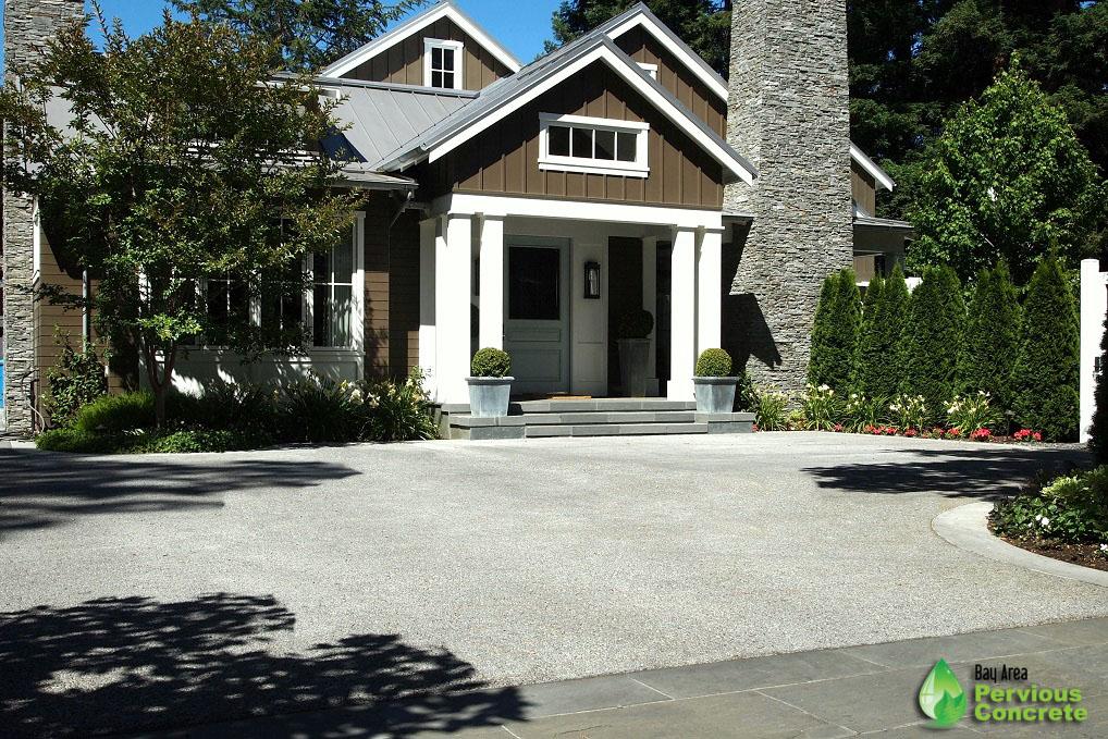 Pervious Concrete Driveway - Menlo Park, CA
