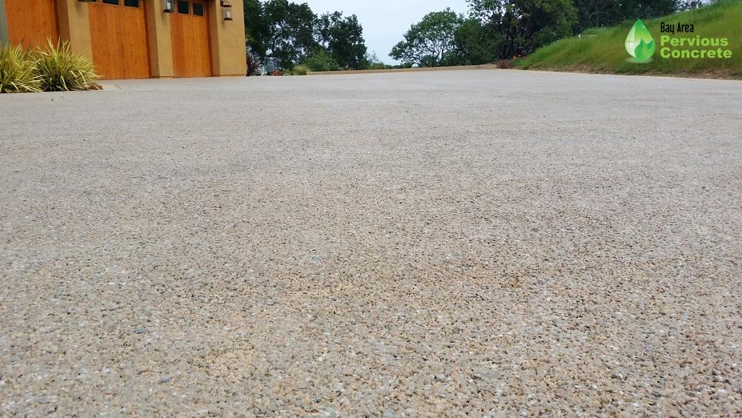 Polished Pervious Concrete Driveway - Palo Alto, CA