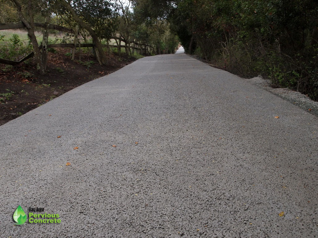 1/2 Mile Long Pervious Concrete Driveway - Palo Alto, CA
